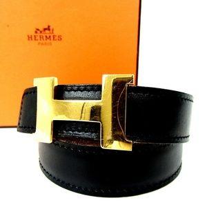 HERMÈS Reversible Mini Constance H Belt With Box S